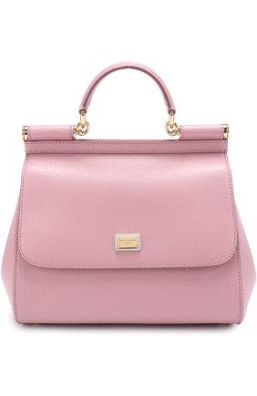 Сумка Sicily medium Dolce & Gabbana розовая цвета | Фото №1