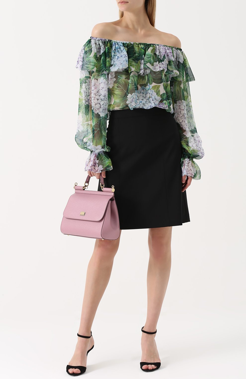 Сумка Sicily medium Dolce & Gabbana розовая цвета | Фото №2