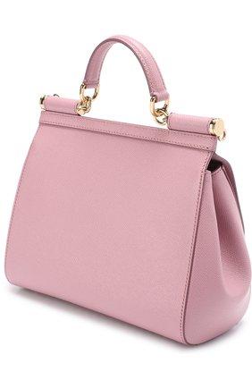Сумка Sicily medium Dolce & Gabbana розовая цвета | Фото №3