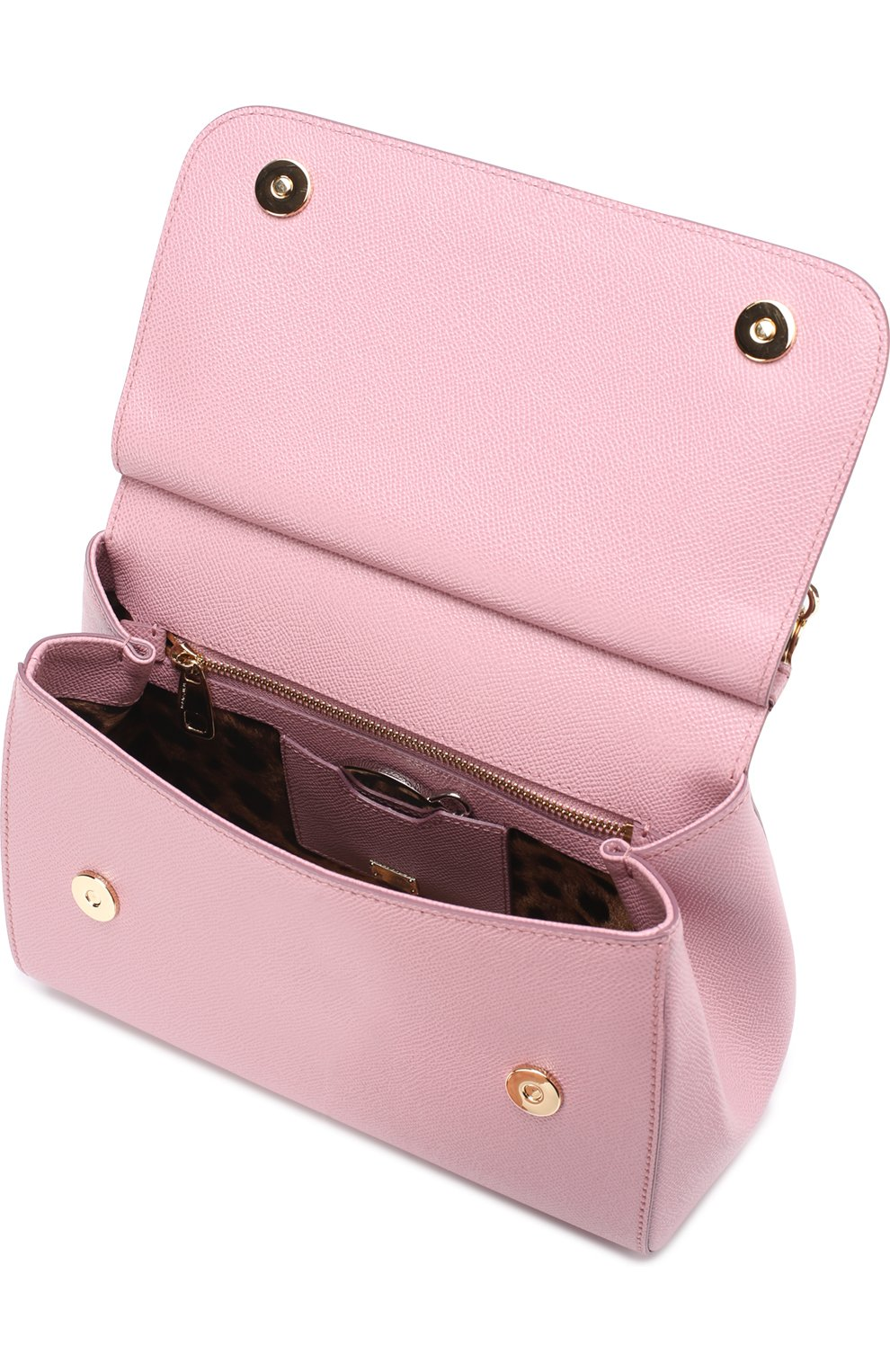 Сумка Sicily medium Dolce & Gabbana розовая цвета | Фото №4