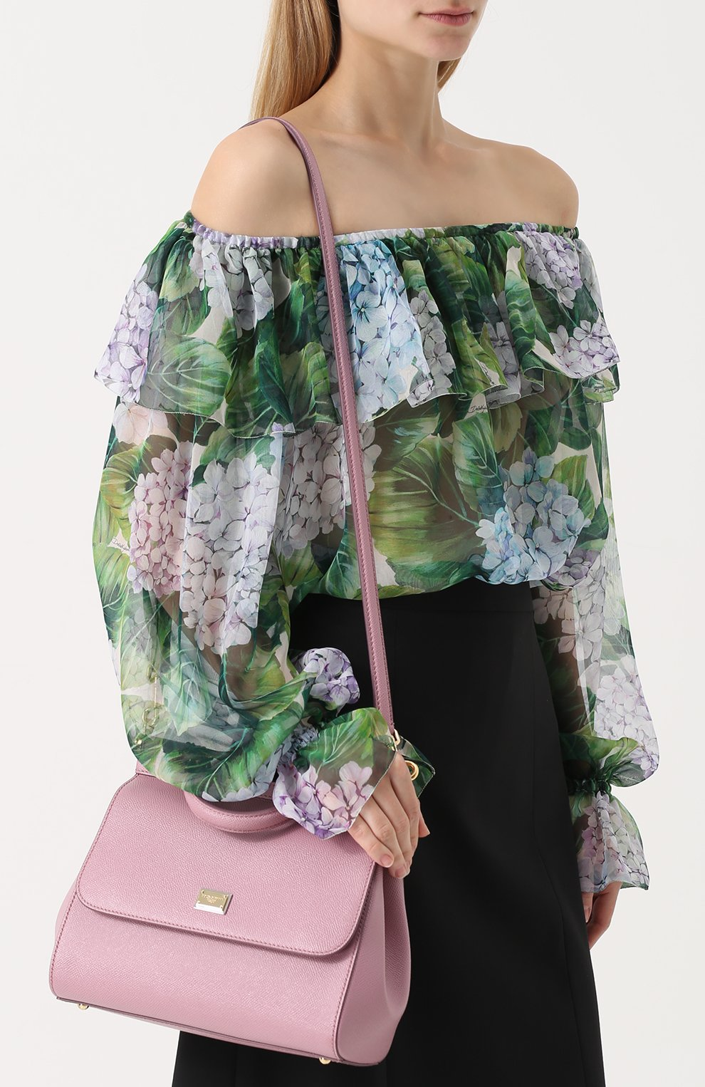 Сумка Sicily medium Dolce & Gabbana розовая цвета | Фото №5