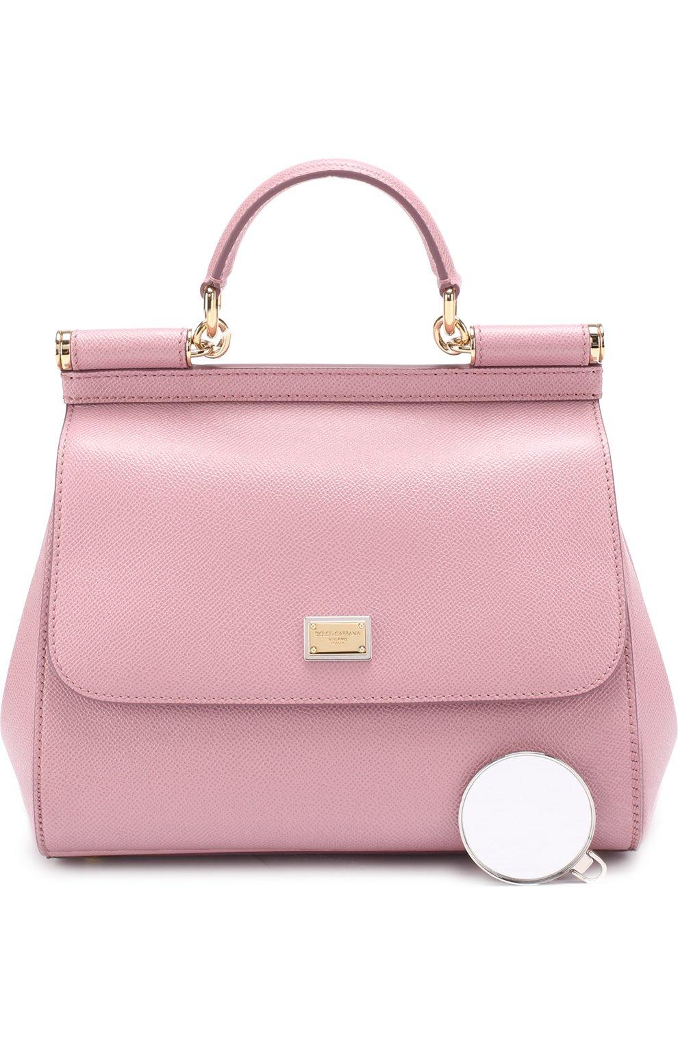 Сумка Sicily medium Dolce & Gabbana розовая цвета | Фото №6