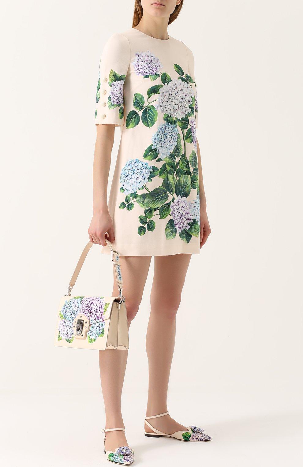 Сумка Lucia с принтом Dolce & Gabbana кремовая цвета   Фото №2