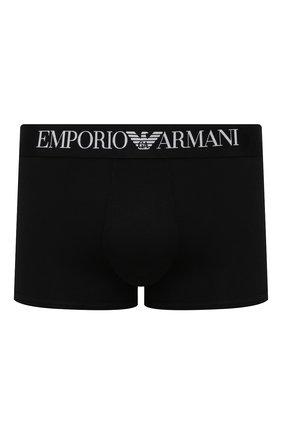 Мужские хлопковые боксеры  EMPORIO ARMANI черного цвета, арт. 111389/CC729   Фото 1