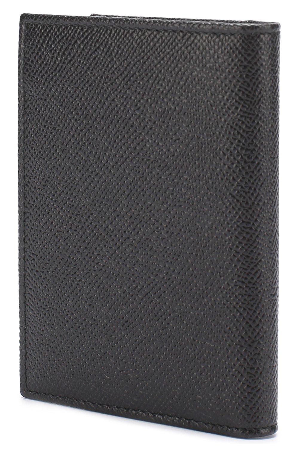 Кожаный футляр для документов Dolce & Gabbana черного цвета | Фото №2