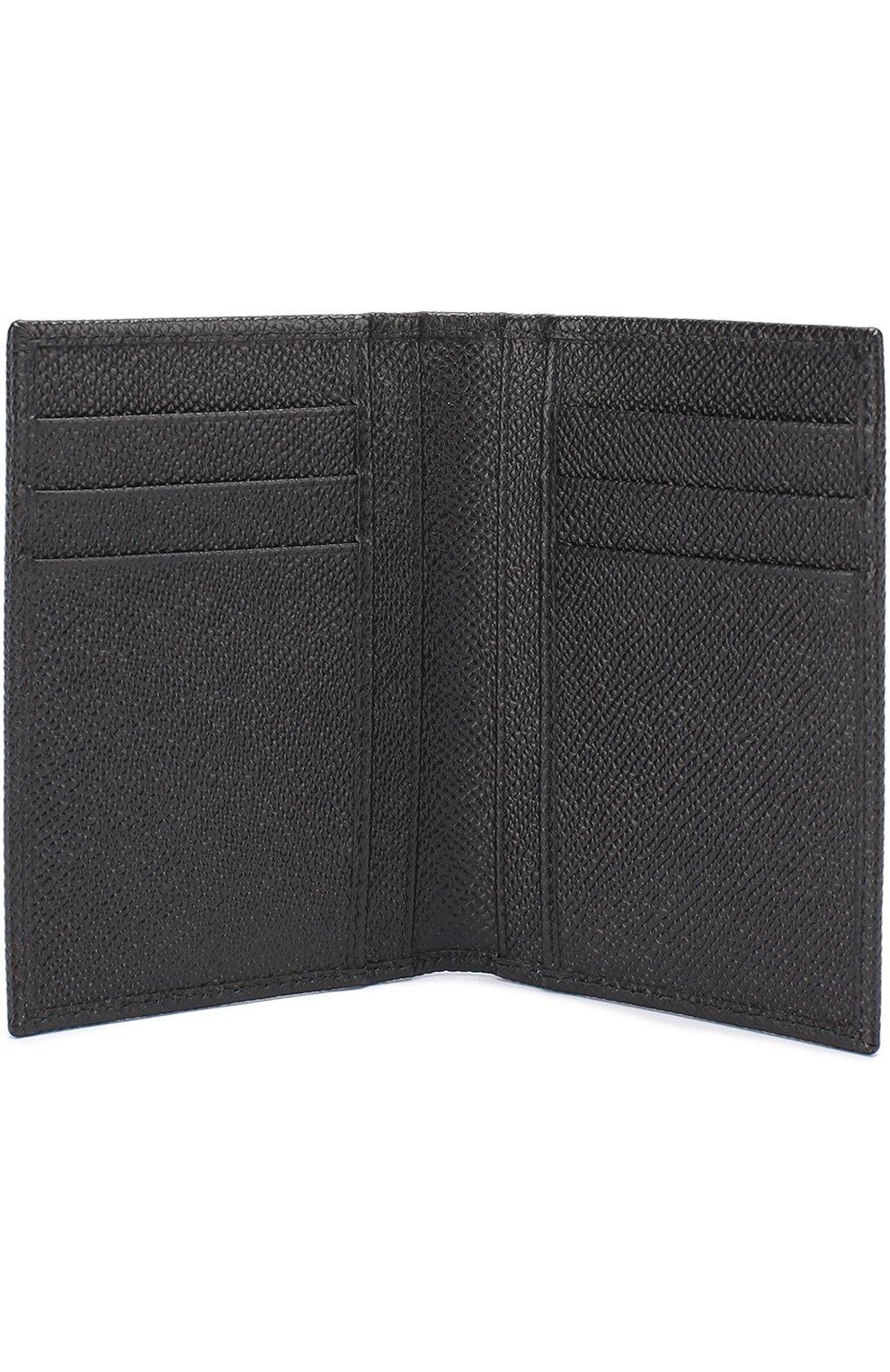Кожаный футляр для документов Dolce & Gabbana черного цвета | Фото №3