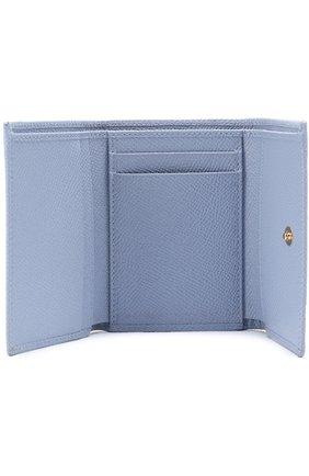 Кожаный кошелек Dolce & Gabbana светло-голубого цвета | Фото №3