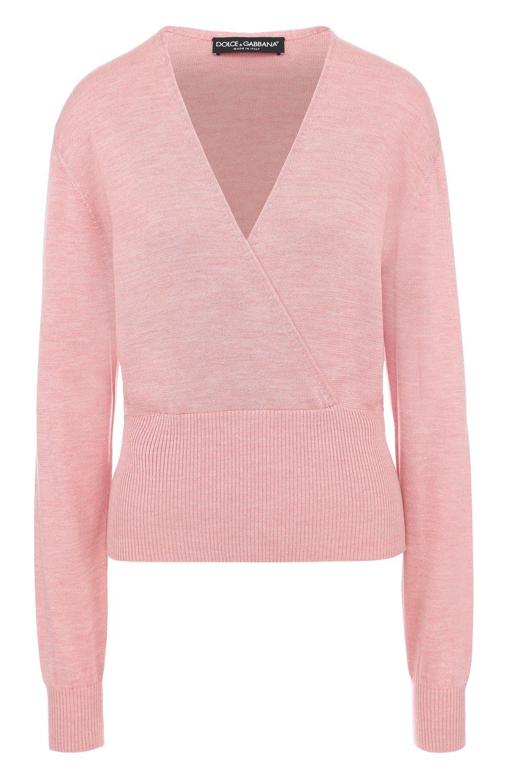 Шелковый пуловер с V-образным вырезом | Фото №1