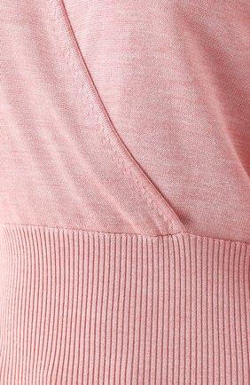 Шелковый пуловер с V-образным вырезом Dolce & Gabbana розовый | Фото №5