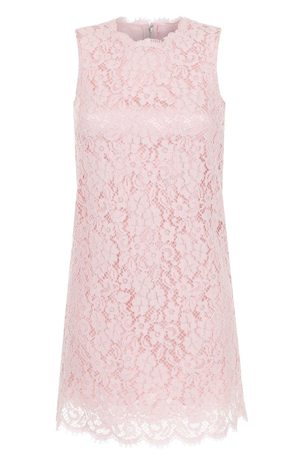 Кружевное мини-платье без рукавов | Фото №1