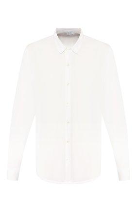 Мужская хлопковая рубашка JAMES PERSE белого цвета, арт. MLC3408 | Фото 1