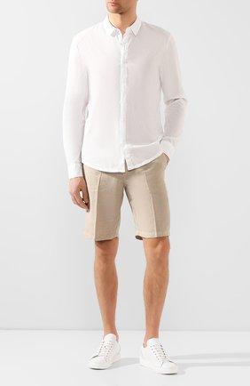 Мужская хлопковая рубашка JAMES PERSE белого цвета, арт. MLC3408 | Фото 2