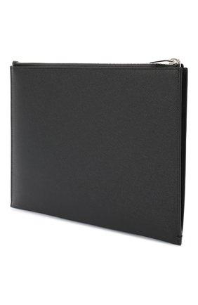 Мужского кожаный чехол для ipad SAINT LAURENT черного цвета, арт. 397294/BTY0N | Фото 2