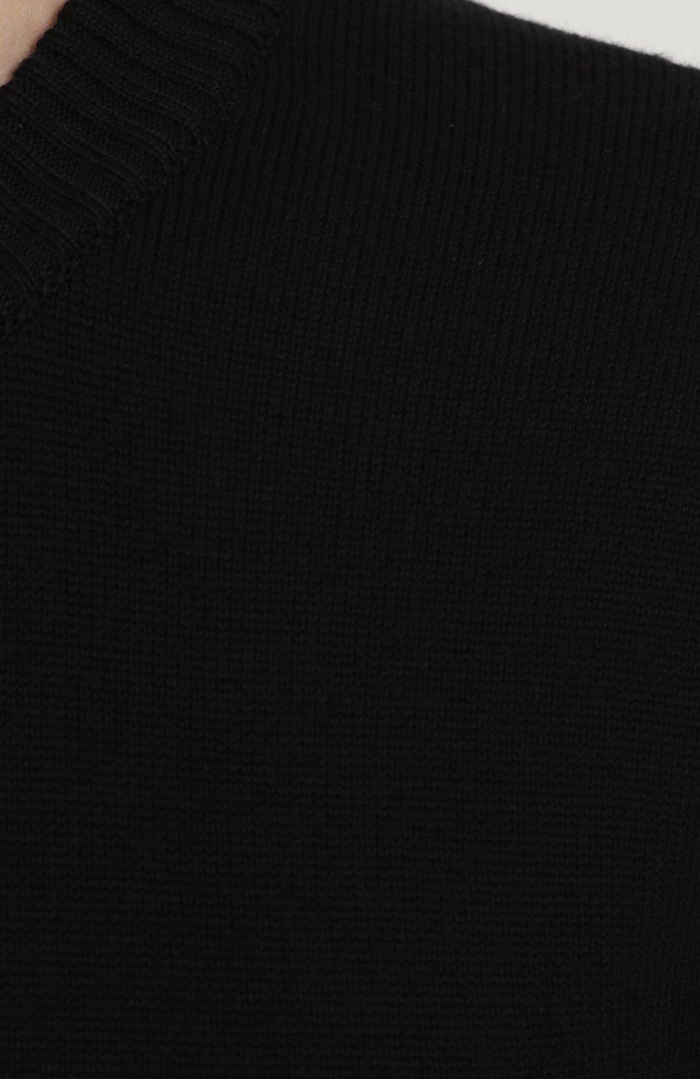 Шерстяной однотонный джемпер Dolce & Gabbana черный   Фото №5