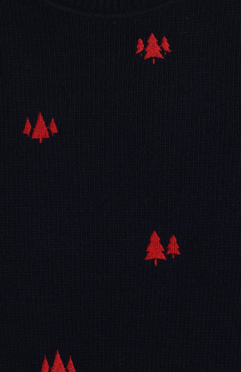Шерстяной джемпер с контрастной вышивкой | Фото №5