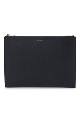 Кожаный чехол для ipad SAINT LAURENT темно-синего цвета, арт. 397294/BTY0N | Фото 1