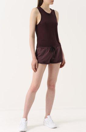Спортивные мини-шорты Koral бордового цвета | Фото №1
