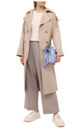Женский хлопковый пуловер POLO RALPH LAUREN светло-бежевого цвета, арт. 211580009 | Фото 2 (Длина (для топов): Стандартные; Статус проверки: Проверено, Проверена категория; Материал внешний: Хлопок; Рукава: Длинные; Женское Кросс-КТ: Пуловер-одежда)