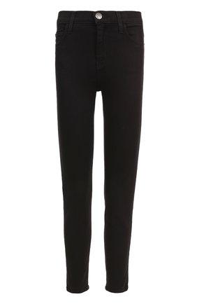 Укороченные джинсы-скинни Current/Elliott черные   Фото №1