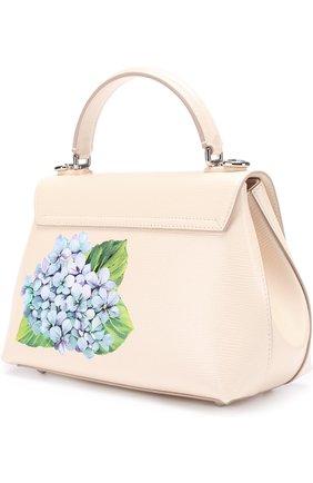 Сумка Lucia medium с принтом Dolce & Gabbana кремовая цвета   Фото №3