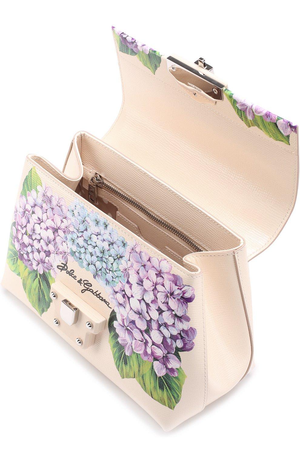 Сумка Lucia medium с принтом Dolce & Gabbana кремовая цвета   Фото №4