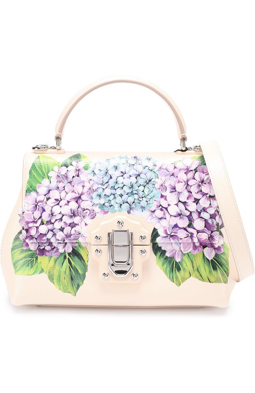 Сумка Lucia medium с принтом Dolce & Gabbana кремовая цвета   Фото №6