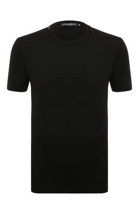 Хлопковая футболка Dolce & Gabbana черная | Фото №1