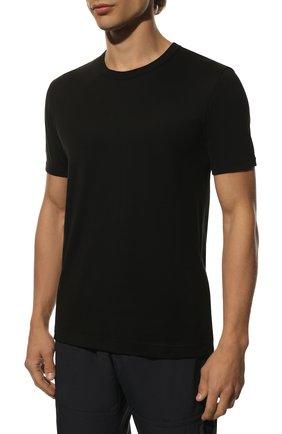 Хлопковая футболка Dolce & Gabbana черная | Фото №3