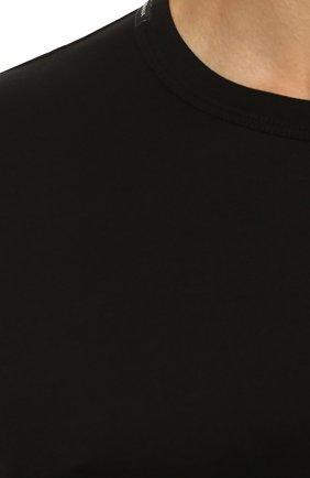 Хлопковая футболка Dolce & Gabbana черная | Фото №5