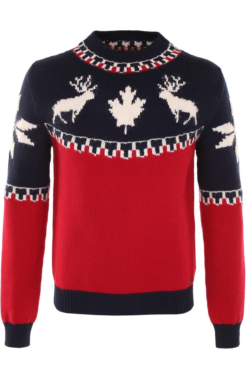 Шерстяной свитер с вышивкой | Фото №1