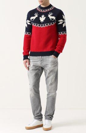 Шерстяной свитер с вышивкой | Фото №2