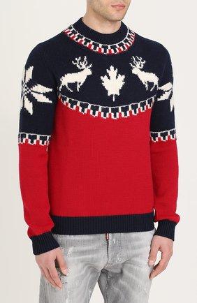 Шерстяной свитер с вышивкой | Фото №3