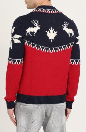Шерстяной свитер с вышивкой | Фото №4
