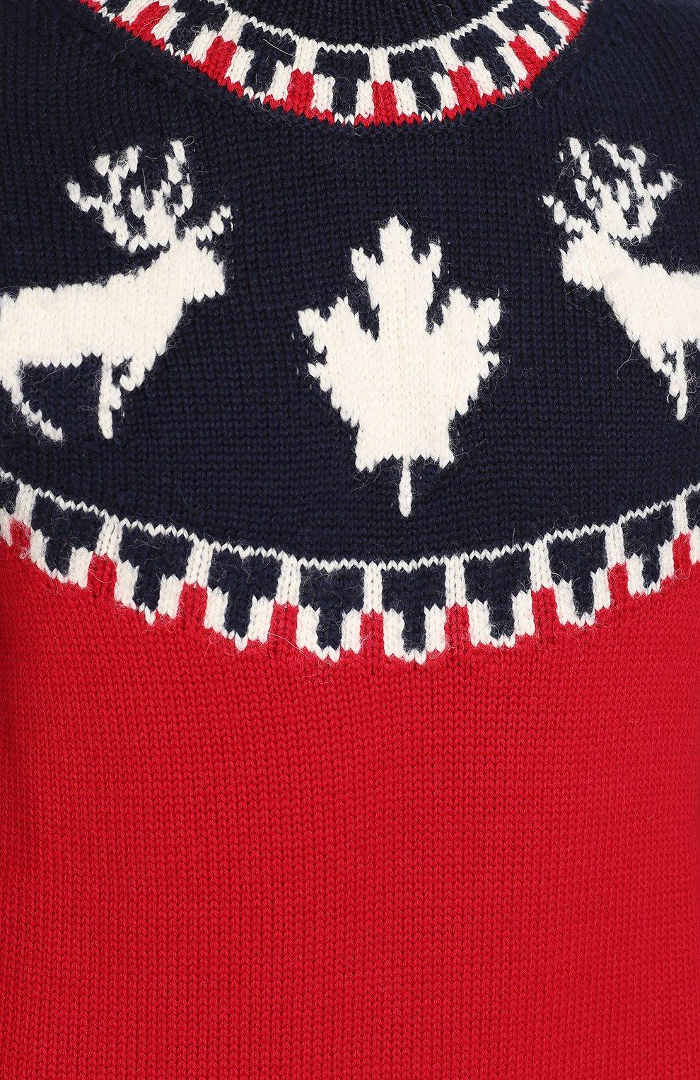 Шерстяной свитер с вышивкой | Фото №5