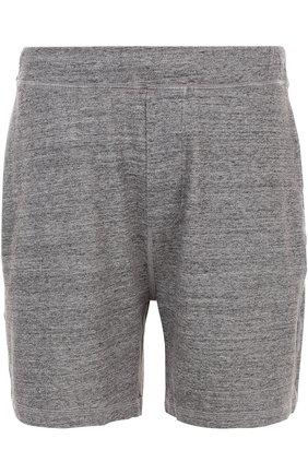 Хлопковые шорты свободного кроя с поясом на резинке