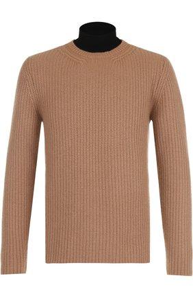 Кашемировый свитер с воротником-стойкой   Фото №1