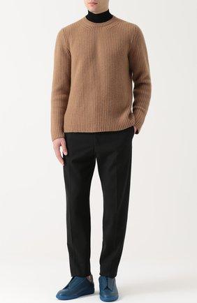 Кашемировый свитер с воротником-стойкой   Фото №2