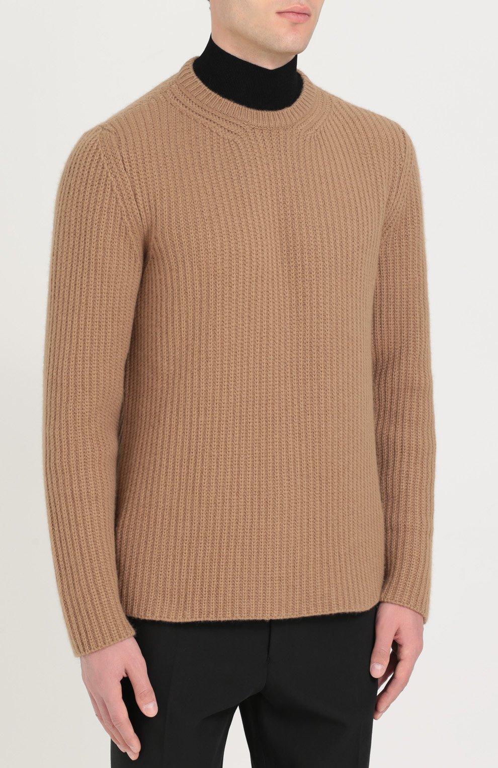 Кашемировый свитер с воротником-стойкой   Фото №3