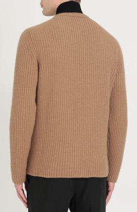 Кашемировый свитер с воротником-стойкой   Фото №4