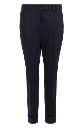 Укороченные брюки с отворотами и стрелками | Фото №1