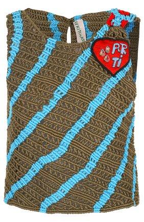 Топ фактурной вязки без рукавов Peter Pilotto хаки | Фото №1