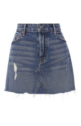 Джинсовая мини-юбка с потертостями   Фото №1