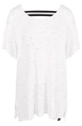 Топ свободного кроя с открытой спиной Koral белого цвета | Фото №1