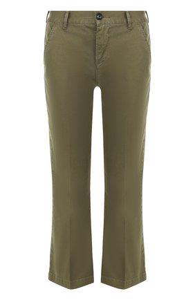 Укороченные расклешенные брюки   Фото №1