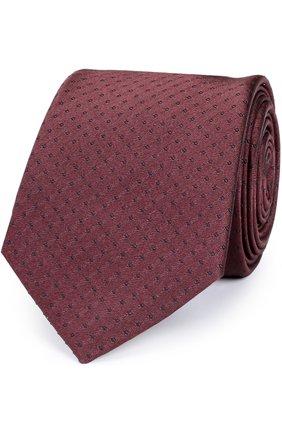 Шелковый галстук Dolce & Gabbana бордового цвета | Фото №1