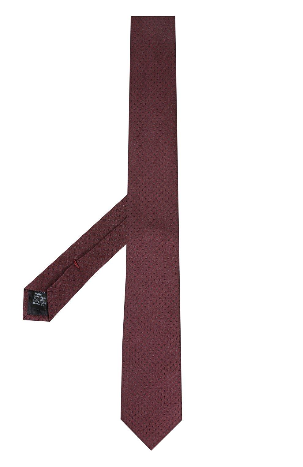 Шелковый галстук Dolce & Gabbana бордового цвета | Фото №2