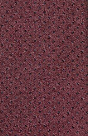 Шелковый галстук Dolce & Gabbana бордового цвета | Фото №3