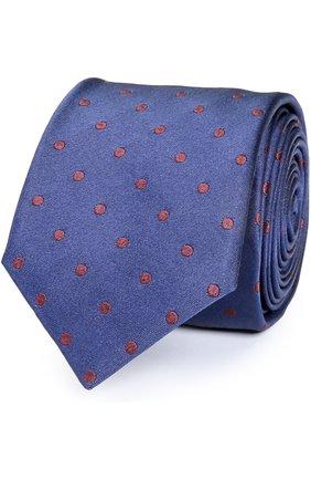 Шелковый галстук Dolce & Gabbana синего цвета | Фото №1