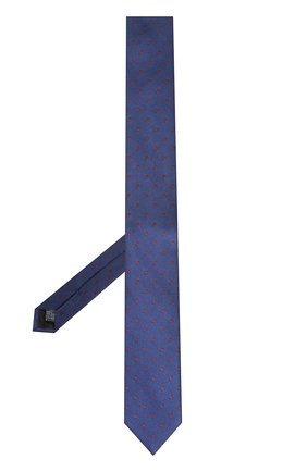 Шелковый галстук Dolce & Gabbana синего цвета | Фото №2