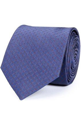 Шелковый галстук Dolce & Gabbana синего цвета   Фото №1